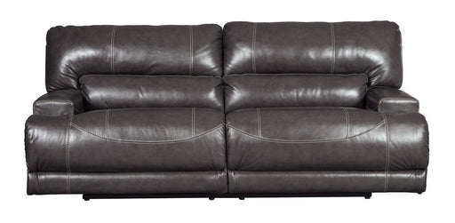 McCaskill Gray Leather Power Sofa