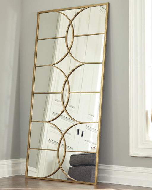 Eamon Antique Gold Finish Floor Mirror