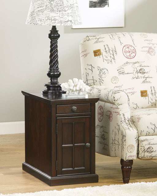 Laforn Dark Brown Chair Side End Table