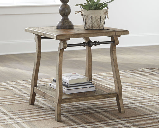 Dazzelton Two-tone Rectangular End Table