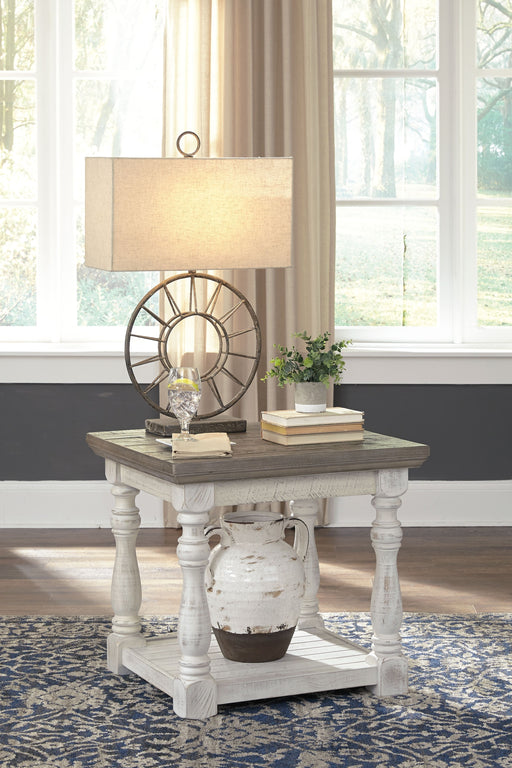 Havalance Gray/White Rectangular End Table