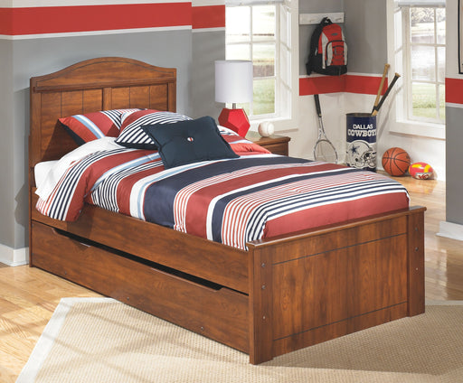 Barchan Medium Brown Twin Panel Bed with Trundle Under Bed Storage
