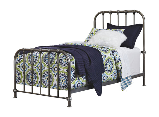 Nashburg Silver Twin Metal Bed