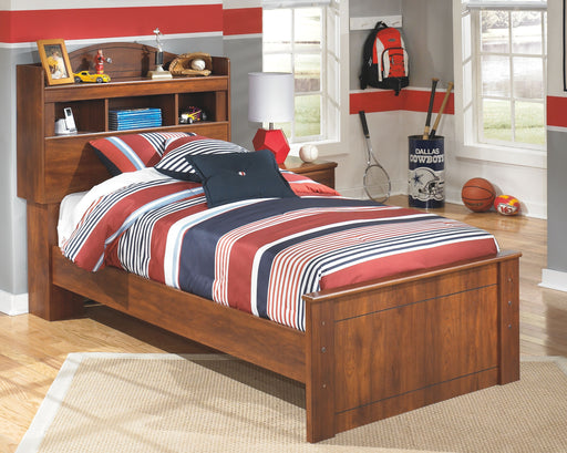Barchan Medium Brown Twin Bookcase Bed