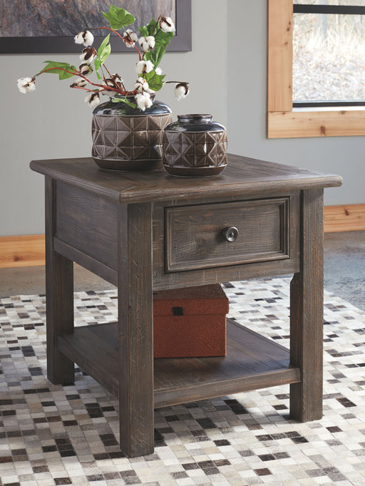 Wyndahl Rustic Brown Rectangular End Table