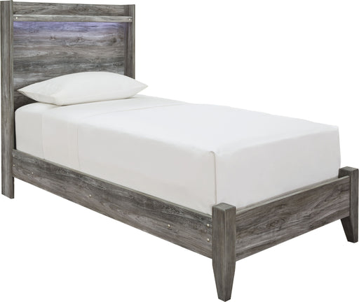 Baystorm Gray Twin Panel Bed