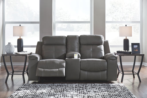 Jesolo Dark Gray Reclining Loveseat