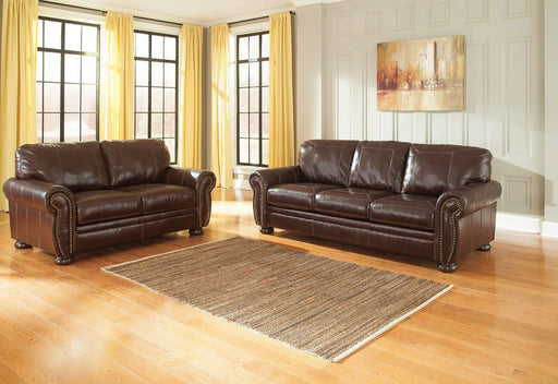 Banner Coffee Leather 2 Piece Living Room Set