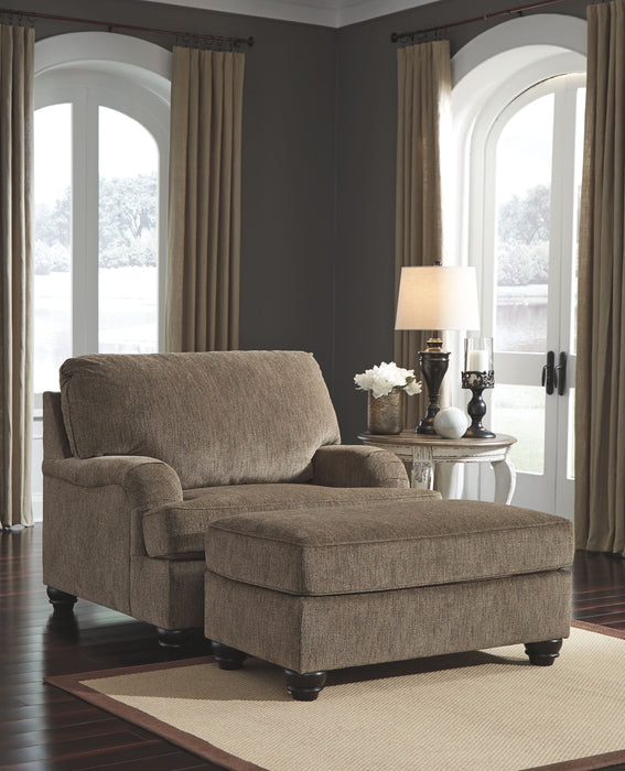 Braemar Brown Chair with Ottoman