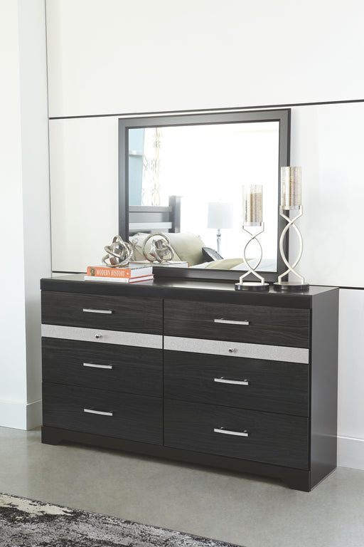 Starberry Black Dresser and Mirror