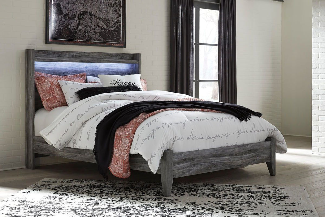 Baystorm Gray Queen Bed Frame
