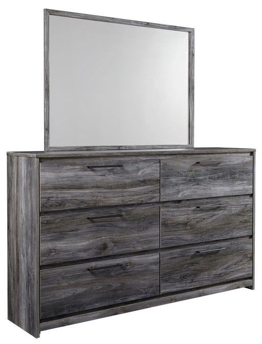 Baystorm Gray Dresser and Mirror
