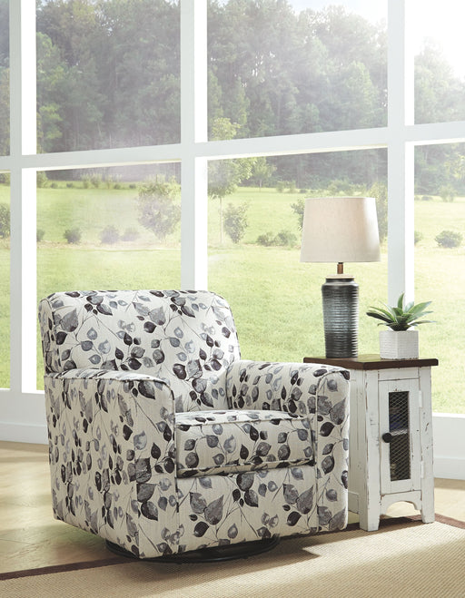 Abney Plantinum Swivel Accent Chair