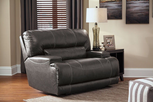 McCaskill Gray Leather Reclining Chair