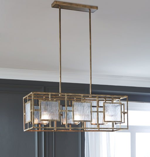 Pacey Antique Gold Metal Pendant Light