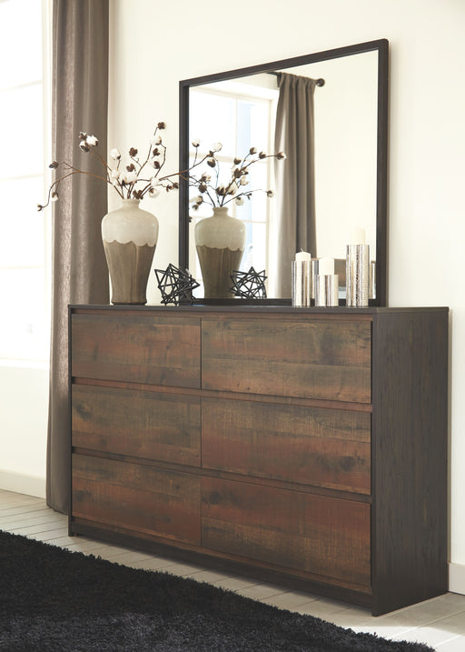 Windlore Dark Brown Dresser and Mirror
