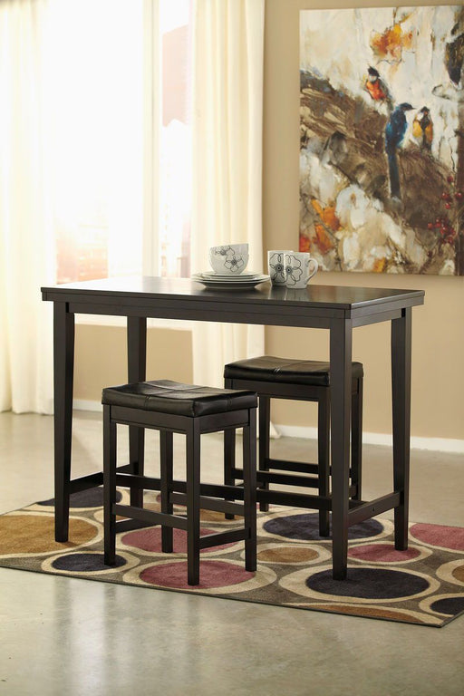 Kimonte Dark Brown 3 Piece Dining Set