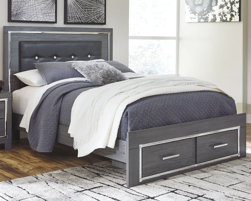 Lodanna Gray Queen Panel Bed with Storage