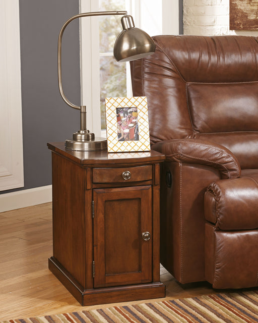Laflorn Medium Brown Chair Side End Table