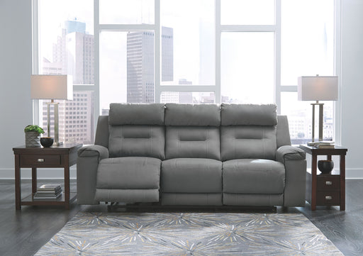 Trampton Smoke Power Reclining Sofa with Adjustable Headrest