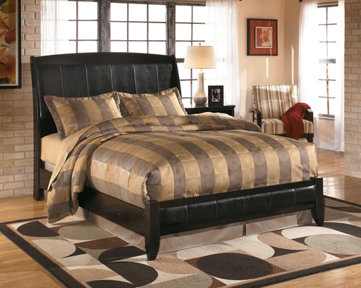Harmony Dark Brown King Sleigh Bed