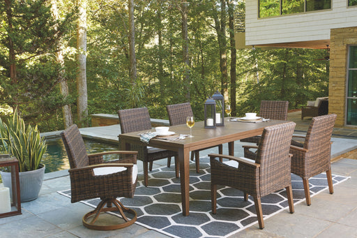 Paradise Trail Medium Brown Outdoor Dining Set