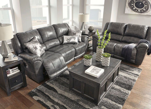 Persiphone Charcoal Reclining Power Sofa & Reclining Power Loveseat