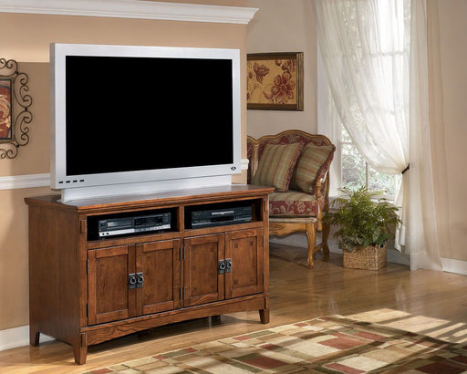 Cross Island Medium Brown TV Stand