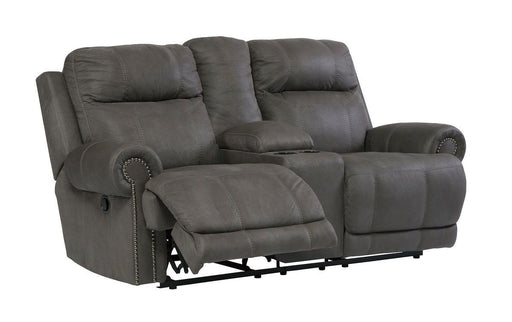 Austere Gray Reclining Loveseat