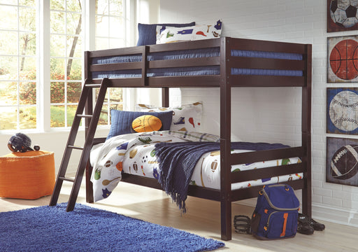 Halanton Dark Brown Twin/Twin Bunk Bed Frame