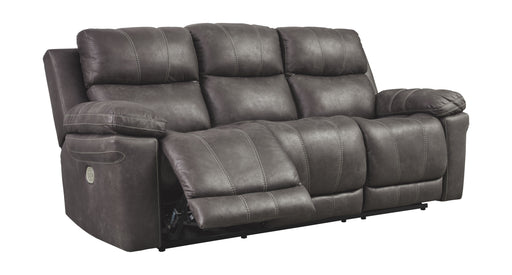 Erlangen Midnight Power Reclining Sofa with Adjustable Headrest