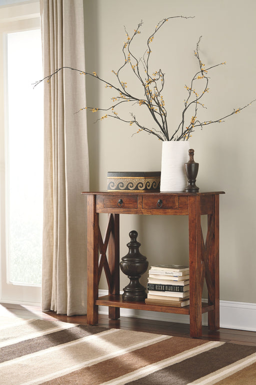 Abbonto Warm Brown Sofa Table