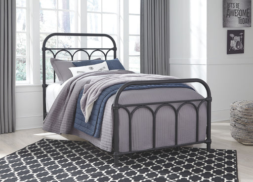 Nashburg Black Twin Metal Bed