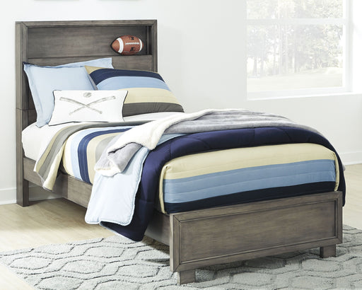 Arnett Gray Twin Storage Bed
