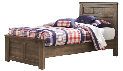 Juararo Dark Brown Twin Panel Bed