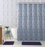 FLORAL BLUE TEAL PAISLEY SHOWER CURTAIN