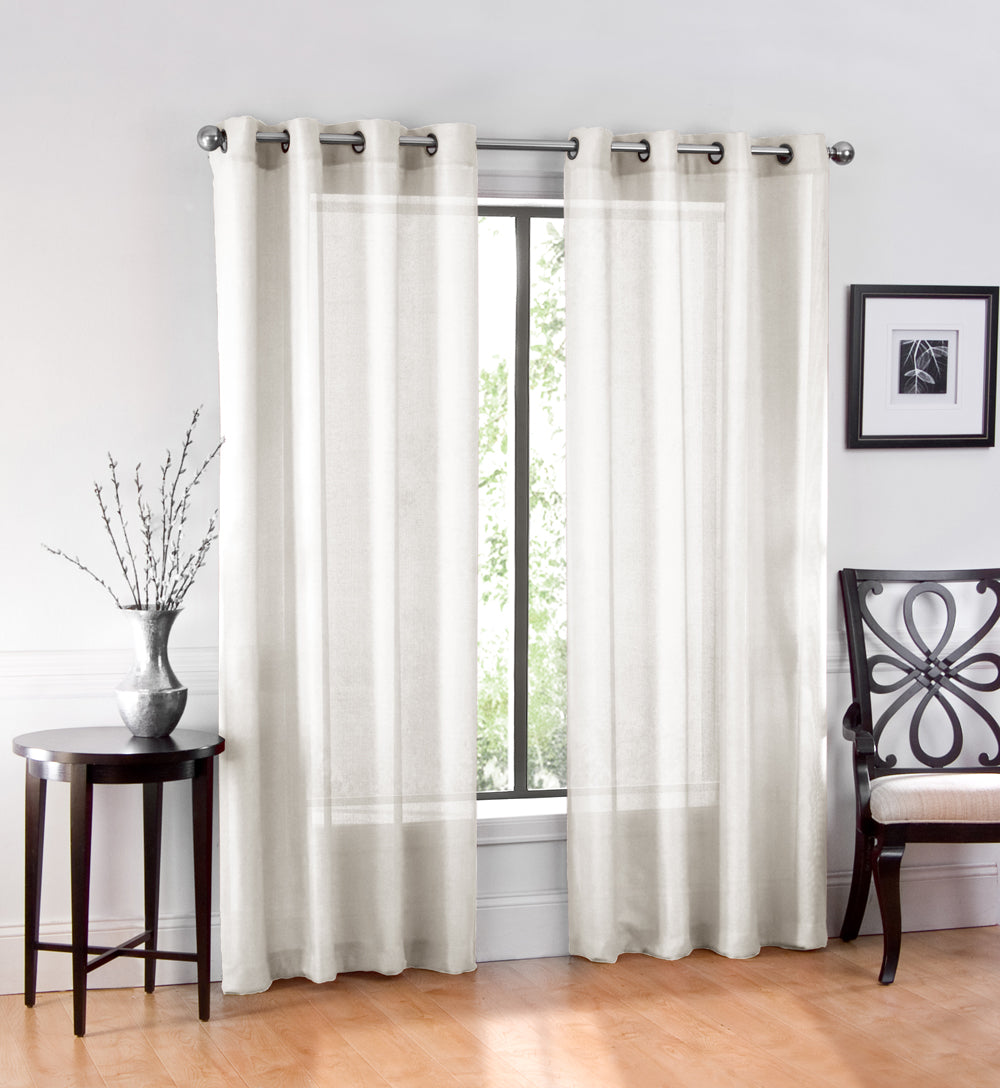Heritage Grommet Sheer Window Panel