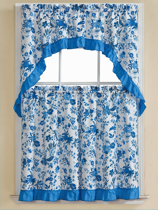 Lydia 3 Piece Printed Kitchen Curtain