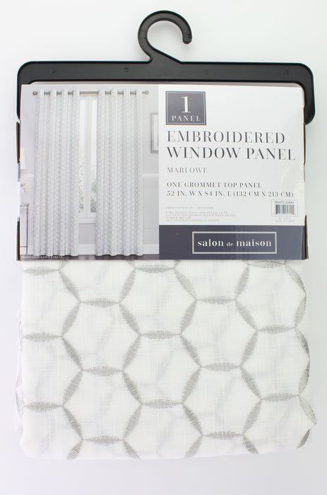 Marlowe Embroidered Window Panel
