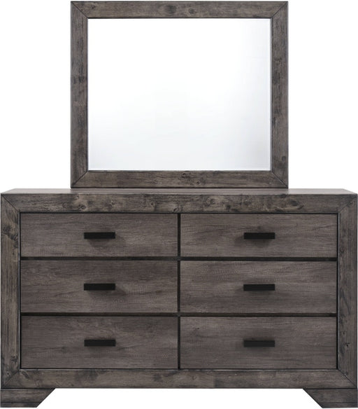 Nathan Gray Oak Finish Dresser & Mirror