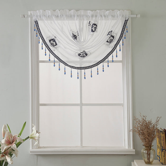 Oslo Embroidered Swag Valance