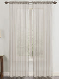 "Celine Solid Voile Sheer Rod Pocket Panel 90"" Length"