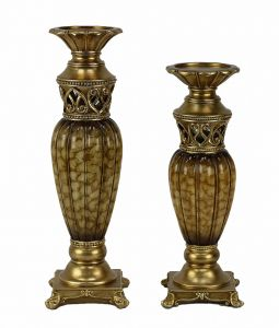 Rossetta Design Two Piece Hurricane Candle Stick Set