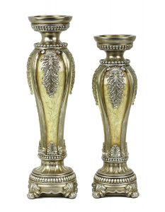 Ivoria Design Two Piece Hurricane Candlestick Set