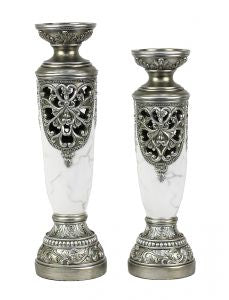 Michelle Design Two Piece Hurricane Candlestick Set