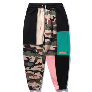 Patchwork Camo Joggers