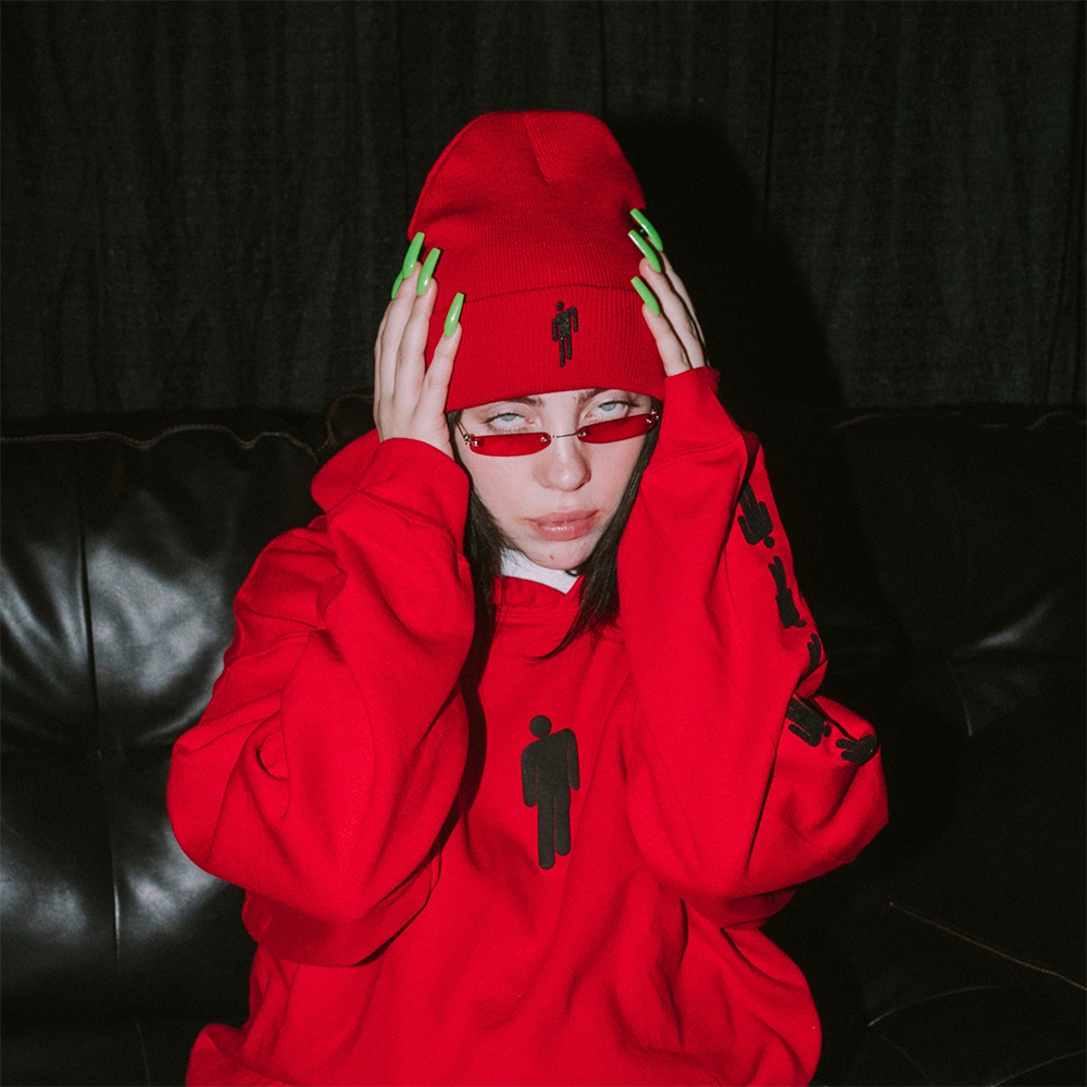 Red Billie Hoodie Billie Eilish Store