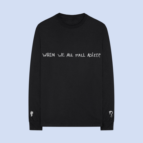 ASLEEP BLACK LONG SLEEVE