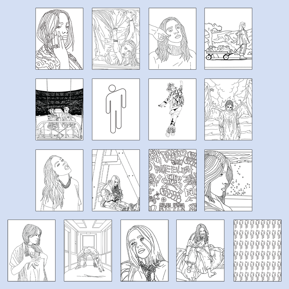 - Billie Eilish Coloring Book - Digital PDF – Billie Eilish Store