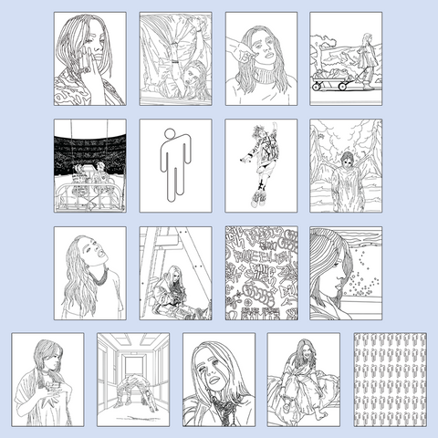 Billie Eilish Coloring Book - Digital PDF